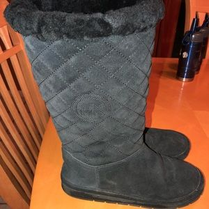 Michael kors quilted tall boots